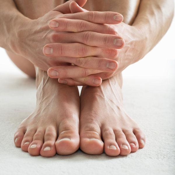 Классический (обрезной) педикюр мужской
